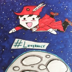 Woke up this morning with almost 100 followers after celebrating 50 yesterday. You are all amazing! Thank you so much for supporting us! Darni is #literally over the moon #autism #redmagedarni #redmage