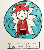 """Darni (the Autistic Red Mage) says """"You can do it!"""" #autism #redmagedarni #redmage"""