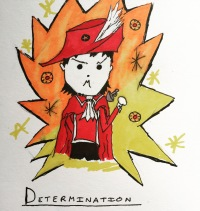 Listening to megalovania over and over fills you with determination (Darni's been playing a bit too much #undertale) #redmagedarni #autism #redmage