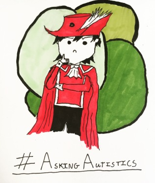Darni is thinking about lots of things. Anyone have an opinions? Come and let us know #redmagedarni #autism #redmage #askingautistics